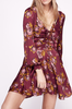Morning Light floral-pattern crepe mini dress