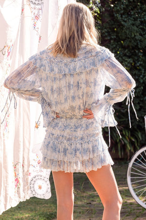 Toulouse Mini Dress in Sunday Blue