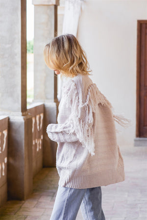 Jaase Knit Cream Cardigan Bianca