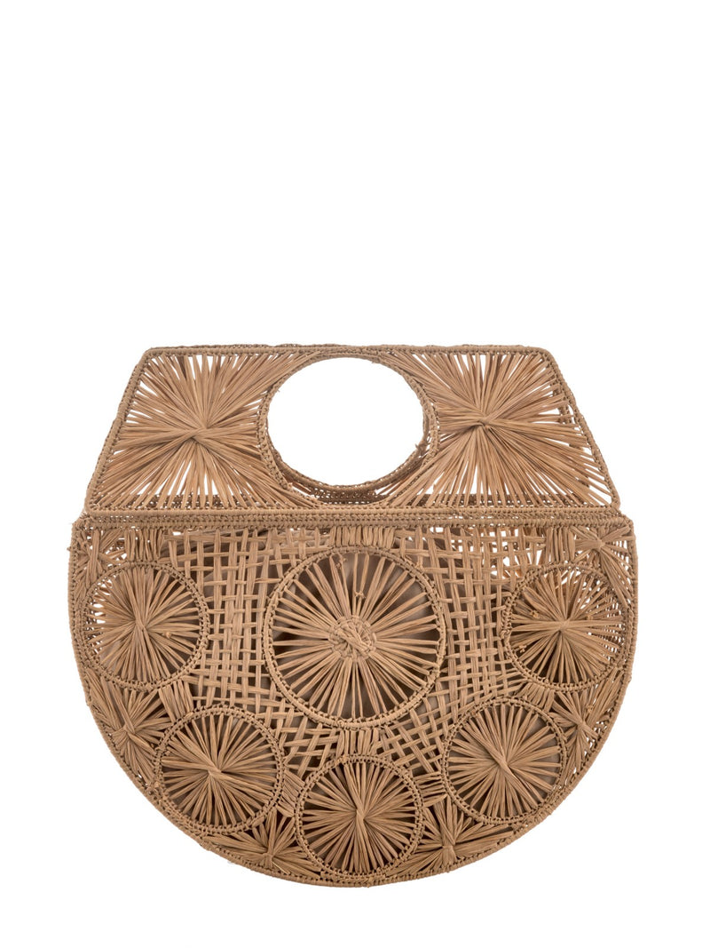 Natural Raffia Moon bag