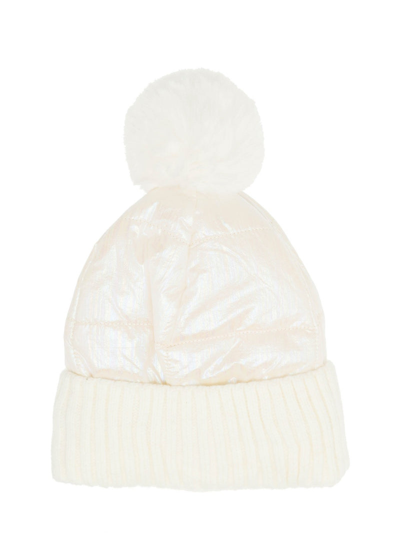 Two toned beanie in Ivory