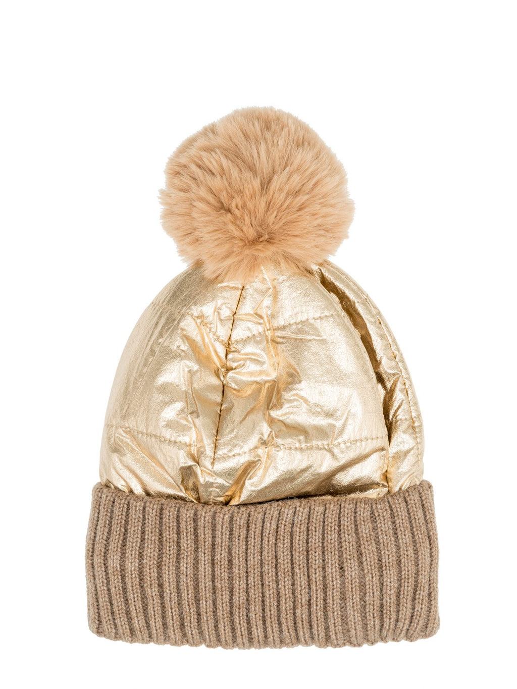 Two toned beanie in Camel