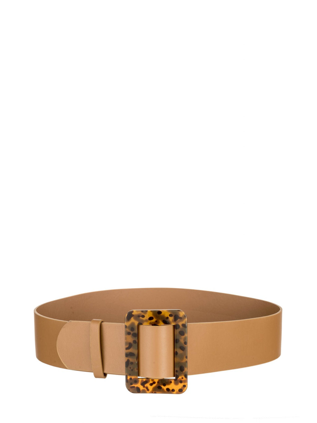 Tan belt with Square Tortoise Buckle