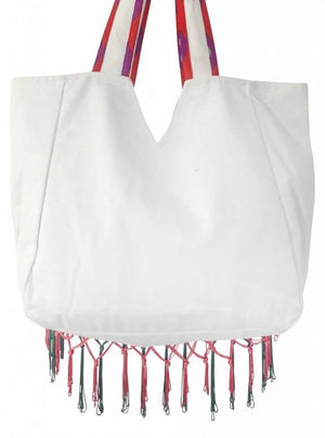 Statement Canvas Beach Bag | Back View | Antica Sartoria