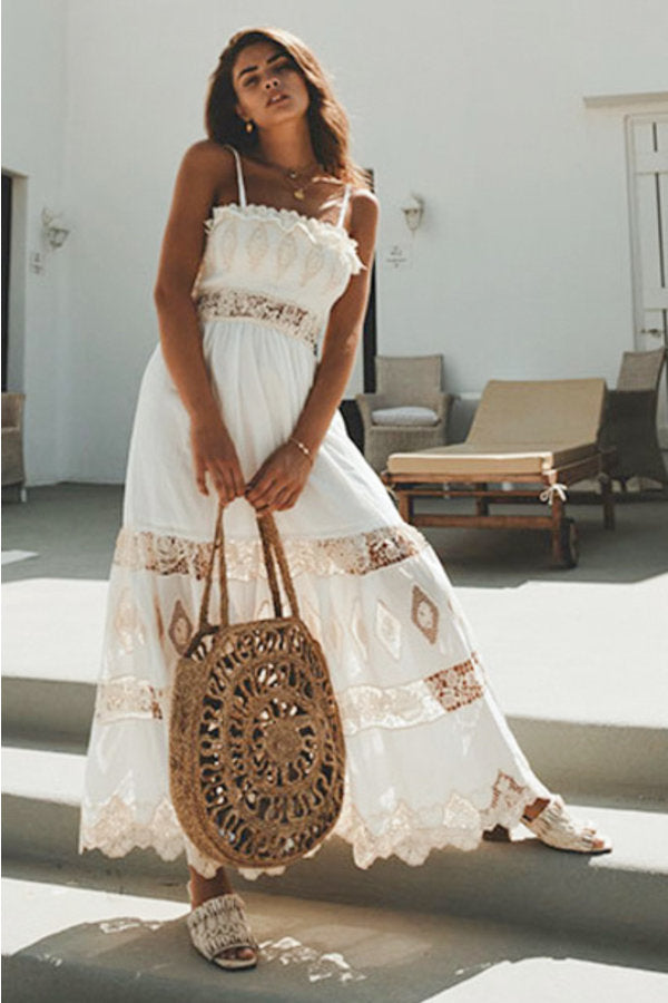 White Bandeau Maxi Dress Jasmine