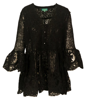 Antica Sartoria Loretta lace Tunic dress in Black