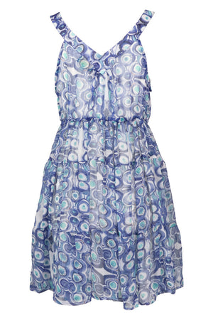 Retro Print chiffon Dress