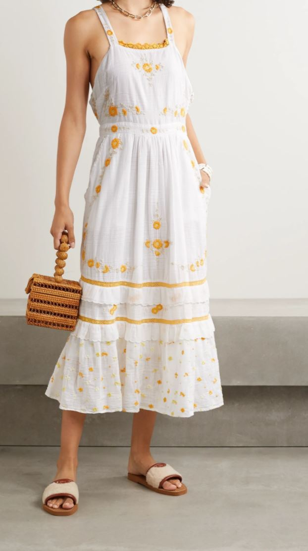 Asher Pinafore Maxi Dress