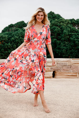 Tessa Maxi Dress in Brixton Print