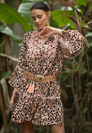 Bangala Dress in Jungle Peach