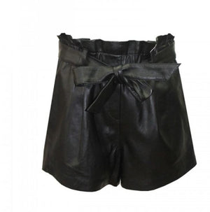 Miss June Genuine Leather Shorts Bellini