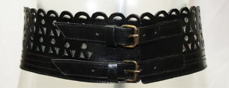 miss june leather belt