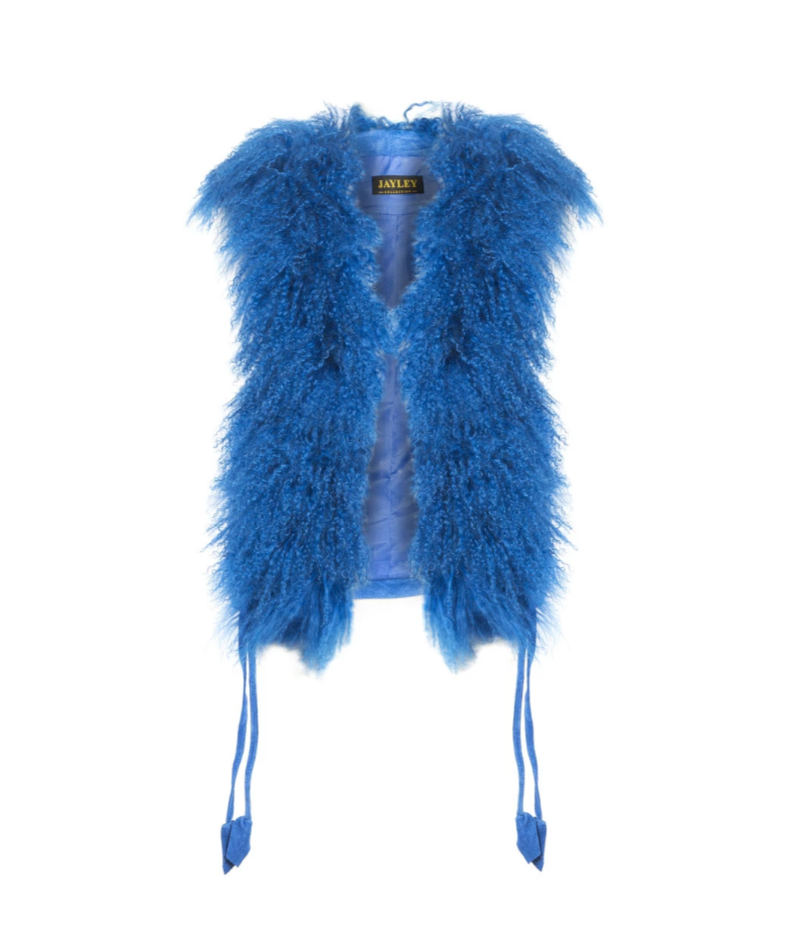 Mongolian Wool Fur and suede Gilet