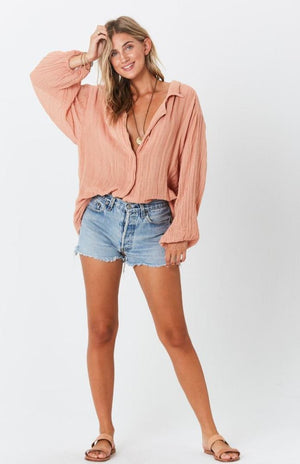 Bonny Button up top in clay