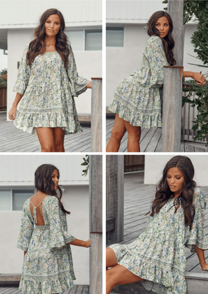 Mini Dress Lou in Beachley Print