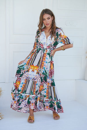 Jaase Vanida Print Paolo Maxi Dress