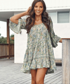 Jaase | Lou Mini Dress in Beachley Print