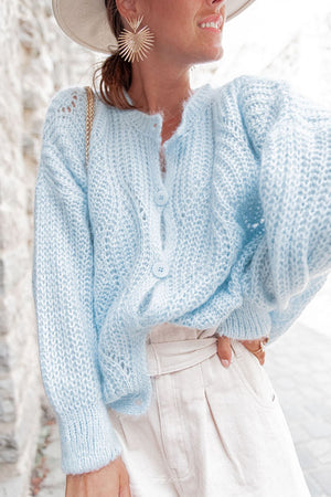 Sky Blue Knit Cardigan Mila