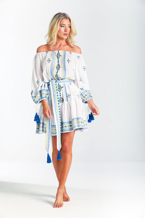pranella Off shoulder embroidery Dress Catalina