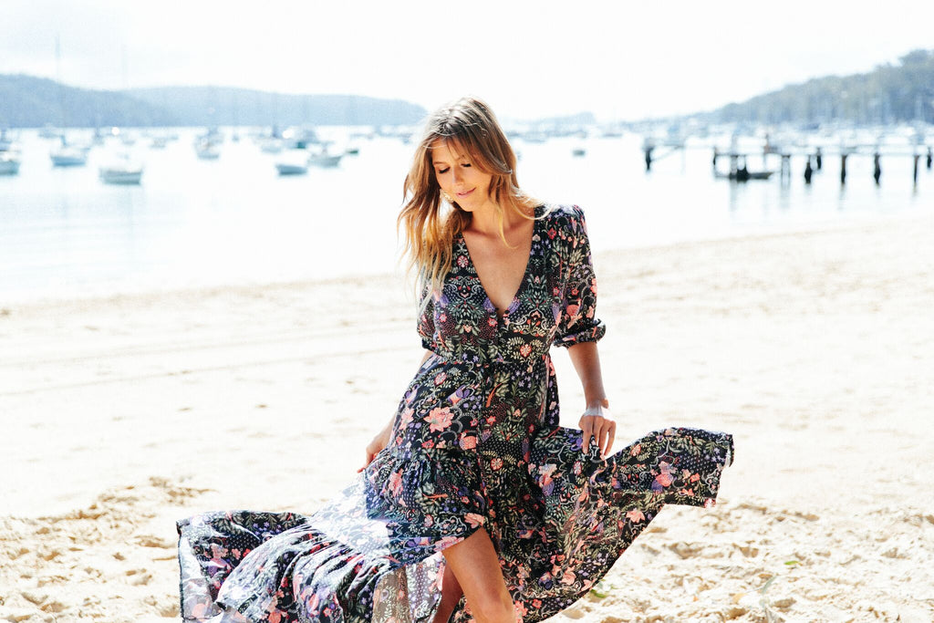 Tessa Maxi Dress in Bree Print