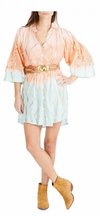 Miss June Ombre Shirt Dress Coral
