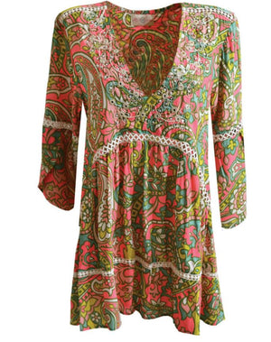 Multi print mini dress cozy