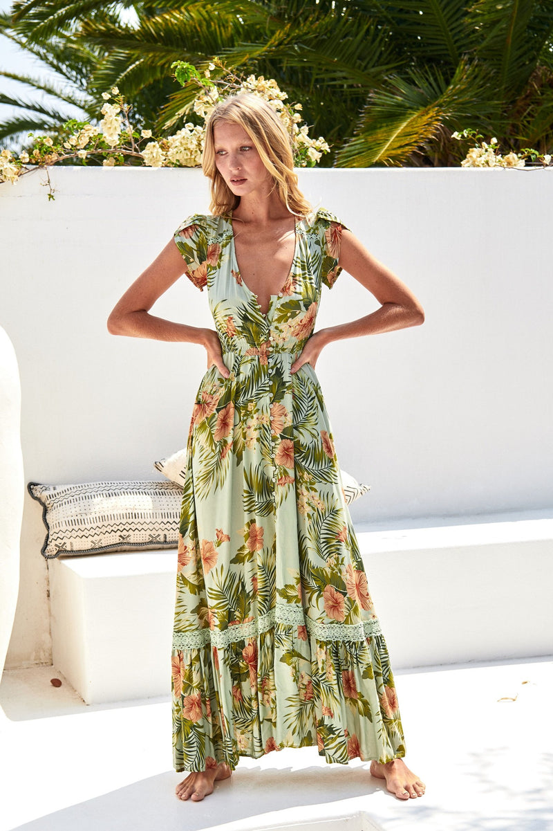 Jaase Maxi Dress Carmen in Attico Print