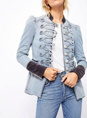 Denim Jacket Seamed and structured