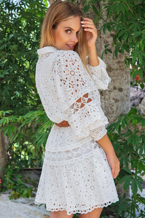 White Miss June Shirt Dress Yoko