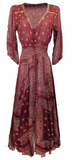 Miss Jun Dress Nomad in Burgundy