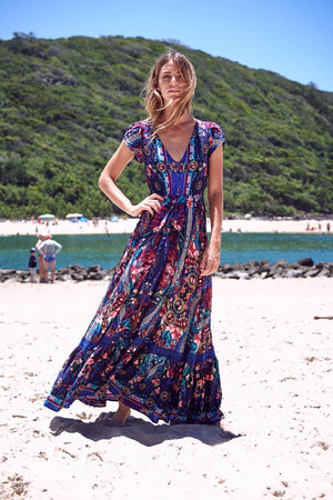 Jaase Maxi Dress Carmen in Rocco Print