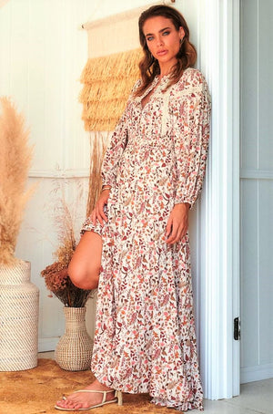 jaase Yumi Maxi Dress in Potter Print