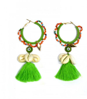 Miss June Shell Tassel Earrings