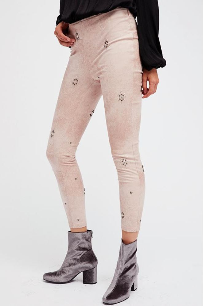 Free People Leather look Leggings