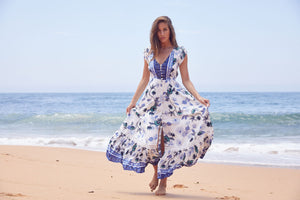 Maxi Dress Carmen in Femme Print