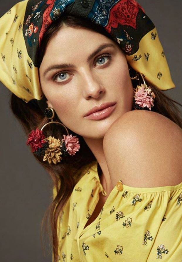 Flower Hoop Earrings in Fall Couture
