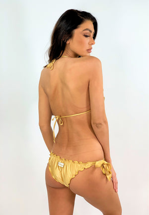 Crochet Triangle bikini Set Fiori in Gold