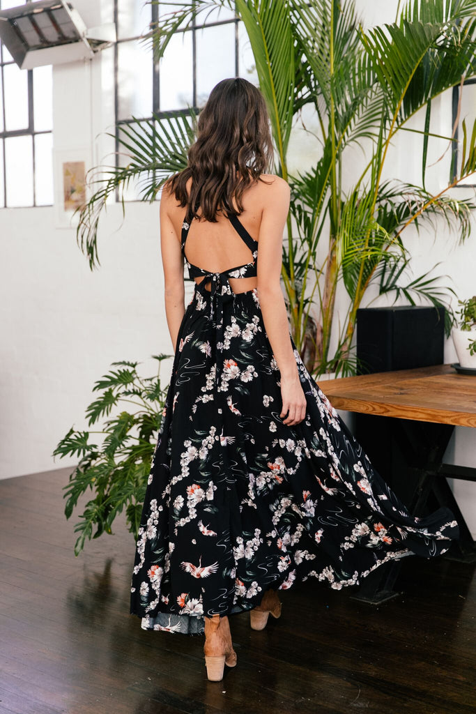 Halter Dress Endless Summer in Fleur de Lyn Print