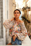 Embroidery Off The Shoulder Top Floral
