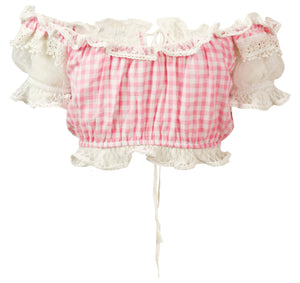 Pink Gingham Crop Top Evita