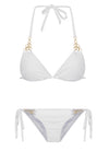 White Cupid side tie Bikini bottom