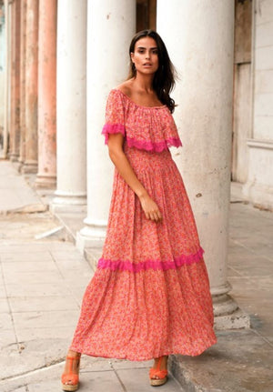 Print Maxi Dress Grenadine