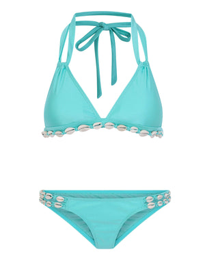 Aruba Triangle Bikini Top with Shells