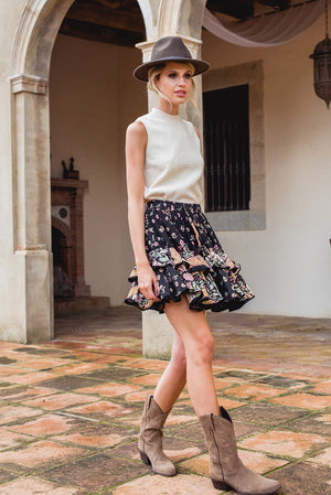 Jaase mini skirt Miri in Eternity Print