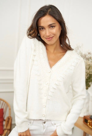 Lace detail Knit Cardigan Ella