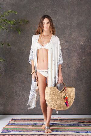 Soleil Straw Basket Bag with Charm