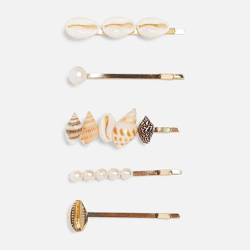Sea Shell hair clip (set of 5)