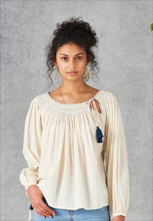 Aubry Embroidery top