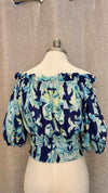 Off The Shoulder print Top Fiji