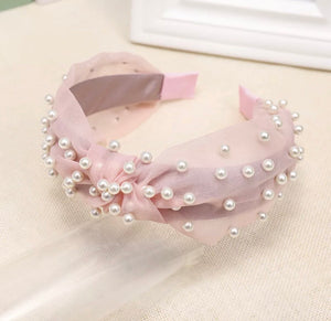 Tulle Pearl Embellished Head Band